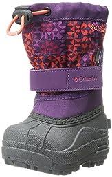 Columbia TDLR Powderbug Plus Print Winter Boot (Toddler), Glory/Orange, 6 M US Toddler