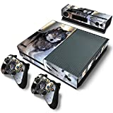 SKINOWN Skin Sticker for Xbox One Console and 2 Controller with 1 Kinect Skins (Wolf) (Color: Wolf)