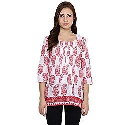 Akkriti by Pantaloons Women Kurta (205000005575019_ Red_ Small)