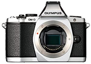 Olympus OM-D E-M5 16MP Live MOS Interchangeable Lens Camera with 3.0-Inch Tilting OLED Touchscreen [Body Only] Silver