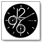 Chic Design Silent Wall Clock with Thermometer