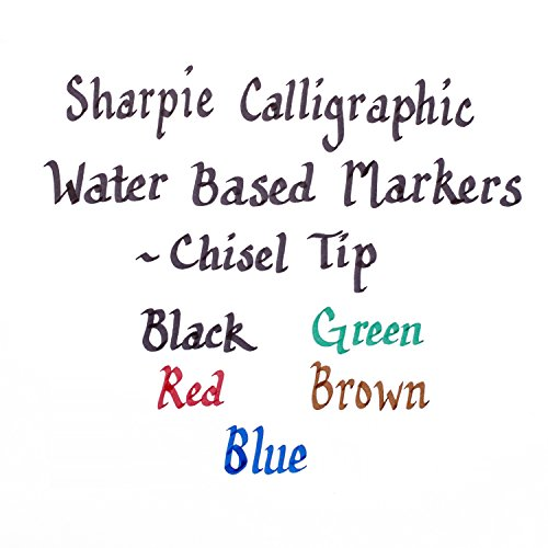Sharpie Calligraphic Chisel Tip Water Based Markers 5