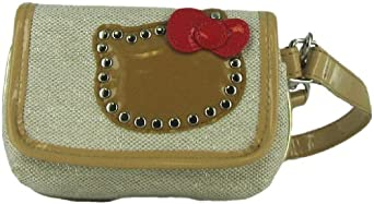 Hello Kitty Studded Gold Wallet Change Purse