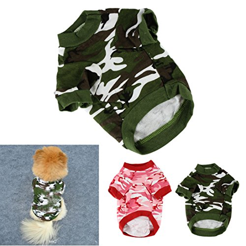 HP95(TM) Pet Dog Cat Camo Clothing Hoody Apparel Puppy Doggy Camouflage Coat T-shirt (XS, (Doggy Clothing)