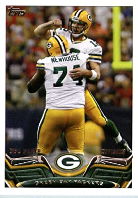 2013 Topps Football Card #361 Aaron Rodgers / Marshall Newhouse - Green Bay Packers (Team Card) NFL Trading Cards