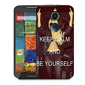 Snoogg Keep Calm And Be Yourself Designer Protective Phone Back Case Cover For Moto X 2nd Generation