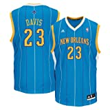 Anthony Davis New Orleans Hornets Aqua NBA Youth Replica Revolution 30 Jersey