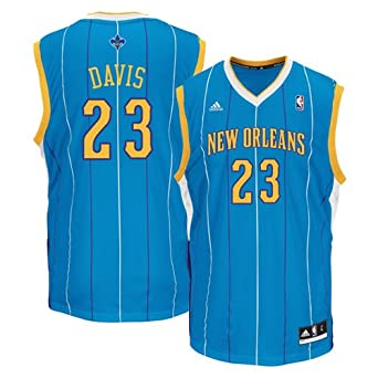 Buy Anthony Davis New Orleans Hornets Aqua NBA Youth Replica Revolution 30 Jersey by adidas
