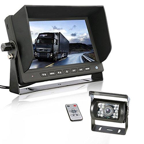 GERI 12V 24V HD CCD rear view camera system (WIRED) + 7