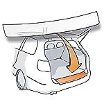 passend für Dacia Sandero II Stepway - Passform Lackschutzfolie als selbstklebender Ladekantenschutz (Autofolie und Schutzfolie) transparent 150µm