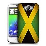 Head Case Designs Jamaica Jamaican Vintage Flags Hard Back Case Cover for HTC Sensation XL