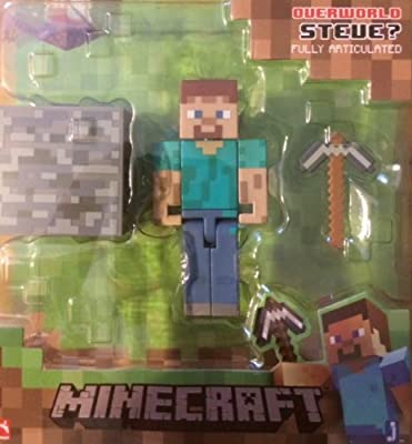Minecraft Overworld Series 1 Steve Action Figure by Jazwares