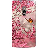 Clapcart Butterfly Printed Mobile Back Cover for One Plus Two -Multicolor