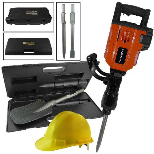 Hd 2200W Demolition Jack Hammer Concrete Chipping Breaker & Ansi Certified Sa...