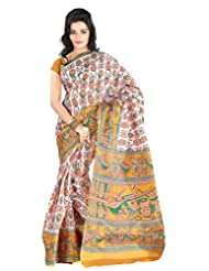 Roopkala Silks & Sarees Cotton Silk Saree With Blouse Piece (Bp-130 _Yellow)