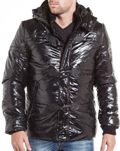 Gov denim - winter jacket Men Hooded Black - Size: L Color: Black
