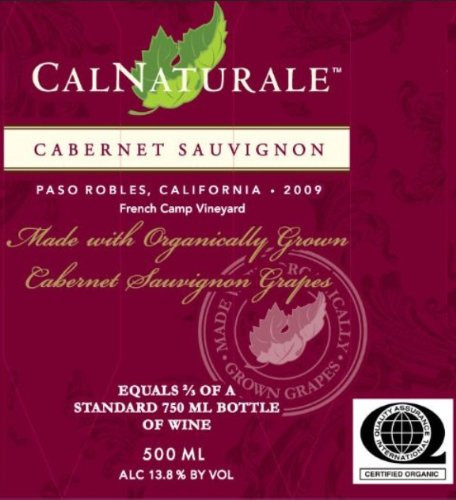 2009 Calnaturale Cabernet Sauvignon Paso Robles 500 Ml