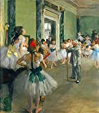 Ballet Class by Degas peel & stick decal, 27.12 X 30.8