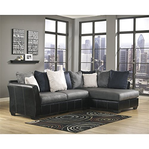 Ashley Furniture Masoli 2 Piece Right Corner Sectional in Cobblestone