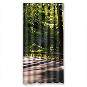 nature forest trees fabric bathroom shower