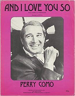 perry como i love you so sheet music pdf