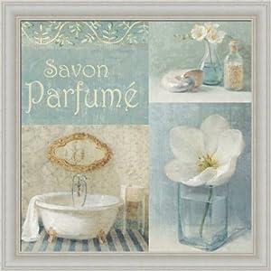 Parfum Ii By Danhui Nai Blue Bath Room Bathroom Wall Art Print Framed D Cor Framed