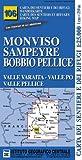 Carta n. 106 Monviso, Sampeyre, Bobbio Pellice 1:25.000. Carta dei sentieri e dei rifugi. Serie monti