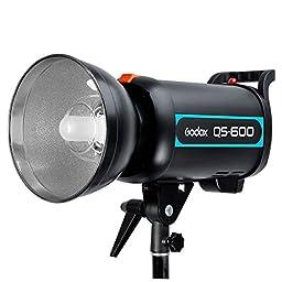 Godox QS-600 600W 600WS Speed Studio Strobe Flash Light Lighting Lamp Head 110V+HuiHuang LED USB free gift