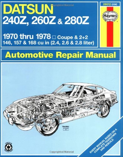 Haynes Datsun 240Z, 260Z, And 280Z Manual, 1970-1978 (Haynes Manuals) front-562185