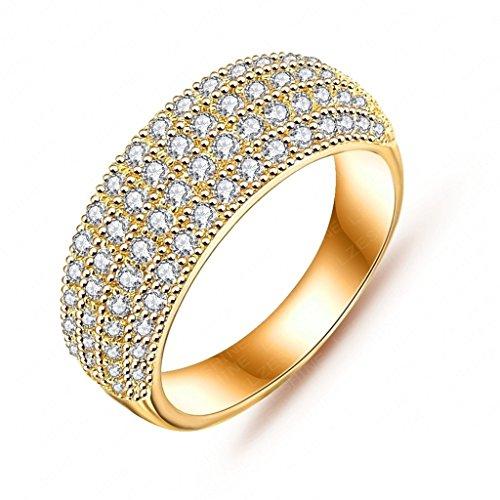 Alimab Gioielli signore anelli Donne anelli fidanzamento amore anelli oro anelli oro rotondo placcato oro 17