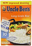 Uncle Ben's Boil in the Bag Long Grain Rice 1 kg (Pack of 12)