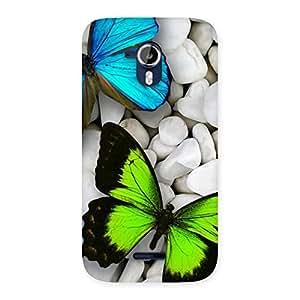Enticing Premier Butterflies Multicolor Back Case Cover for Micromax Canvas Magnus A117