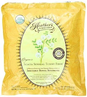 Heather's Tummy Fiber POUCH Organic Acacia Senegal (16 oz) for IBS New