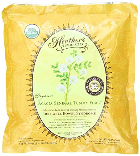 Heathers-Tummy-Fiber-POUCH-Organic-Acacia-Senegal-16-oz-for-IBS-New