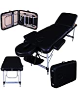 Table de massage pro luxe - Massage Imperial - Portable Richmond - Aluminium - Plateau 3 Pièces - Couleur : Noir