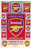 アーセナル エンブレム( 紋章 ロゴ) ラメタイプ ステッカー(Arsenal Sticker / イングランド サッカー フットボール) L サイズ ( Aタイプ)