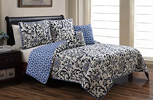 Navy And Grey Bedding 2037 front