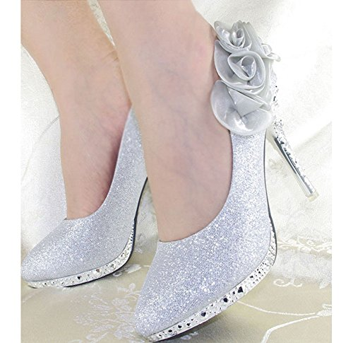 Getmorebeauty-Womens-Silver-Rose-Flower-Crystal-Glitter-Wedding-Shoes