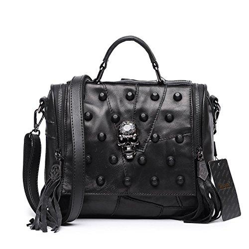 jonon-womens-genuine-leather-sheepskin-studded-skull-shoulder-bag-crossbody-bag