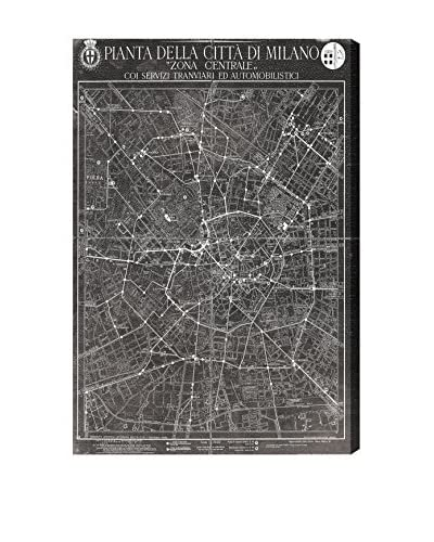 """Oliver Gal """"Mappa Della Citta Di Milano"""" Canvas Art"""