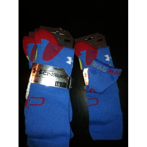 Amazon.com : Under Armour Cam Newton C1N Swag Man Superman Socks Large