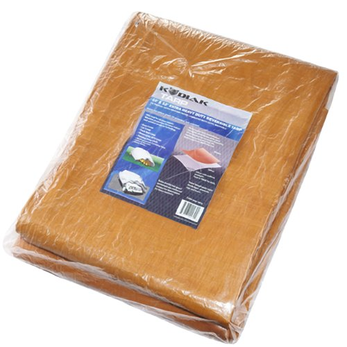 Kodiak Tarps Extra Heavy Duty 10' x 12' Tarp Cover Canopy For Shade or Weather! Heavy Duty at an Affordable Price!