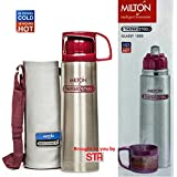 Milton Thermosteel Glassy Flip Lid 750 ML Flask Bottle (24hrs Cold & 24hrs Hot), Pink