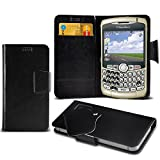 Blackberry Curve 8300 Choose from Protective Mega Thin Faux Leather Suction Pad Wallet Case Cover Skin With Credit/Debit Card Slots Variour Colours By Aventus