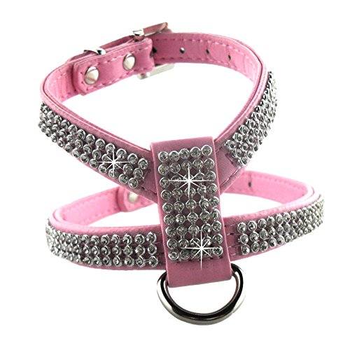 eizur-reglable-chien-harnais-pu-cuir-avec-strass-bling-diamant-sans-tirer-securite-durable-easy-fit-