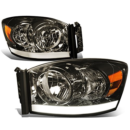 DNA Motoring HL-LB-DR06-SM-AM Headlight Assembly, Driver and Passenger Side (2006 Dodge 2500 Headlight Cover compare prices)