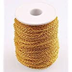 ILOVEDIY 3m Gold Plated Open Link Cable Chain in Bulk for Necklace Jewelry Making