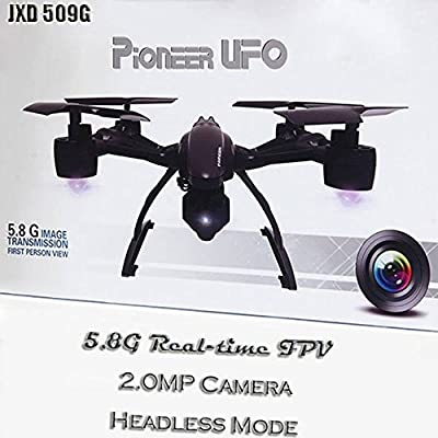 JXD 509G 6 axis gyro 5.8G FPV With 2.0MP HD Camera Live Video HD 2MP RC Drone with FPV Monitor Screen on Remote Altitude Hold Mode & Headless Mode & One Key Return RC Quadcopter from JXD