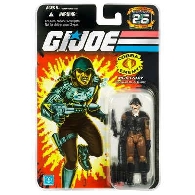 G.I. Joe, 25th Anniversary Action Figure, Mercenary Code Name: Major Bludd, 3.75 Inches