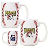 Pittsburgh Pirates MLB 2pc Ceramic Gameball Mug Set - Primary Logo